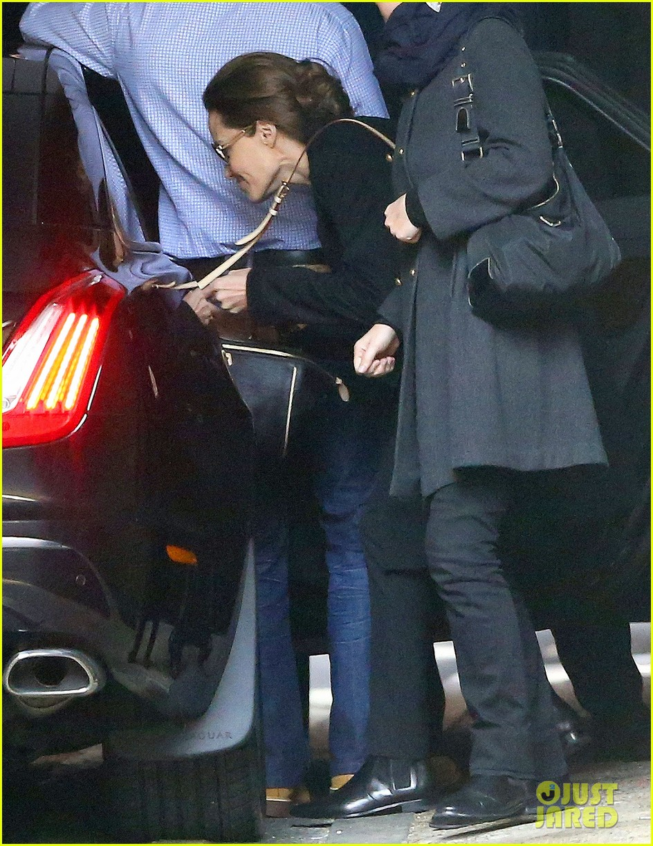 angelina jolie ducks into her car after quick london trip 04