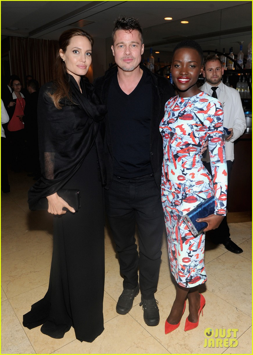 angelina jolie brad pitt 12 years dinner with lupita nyongo 01
