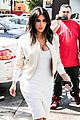 kim kardashian gets ready for summer with white dress 05