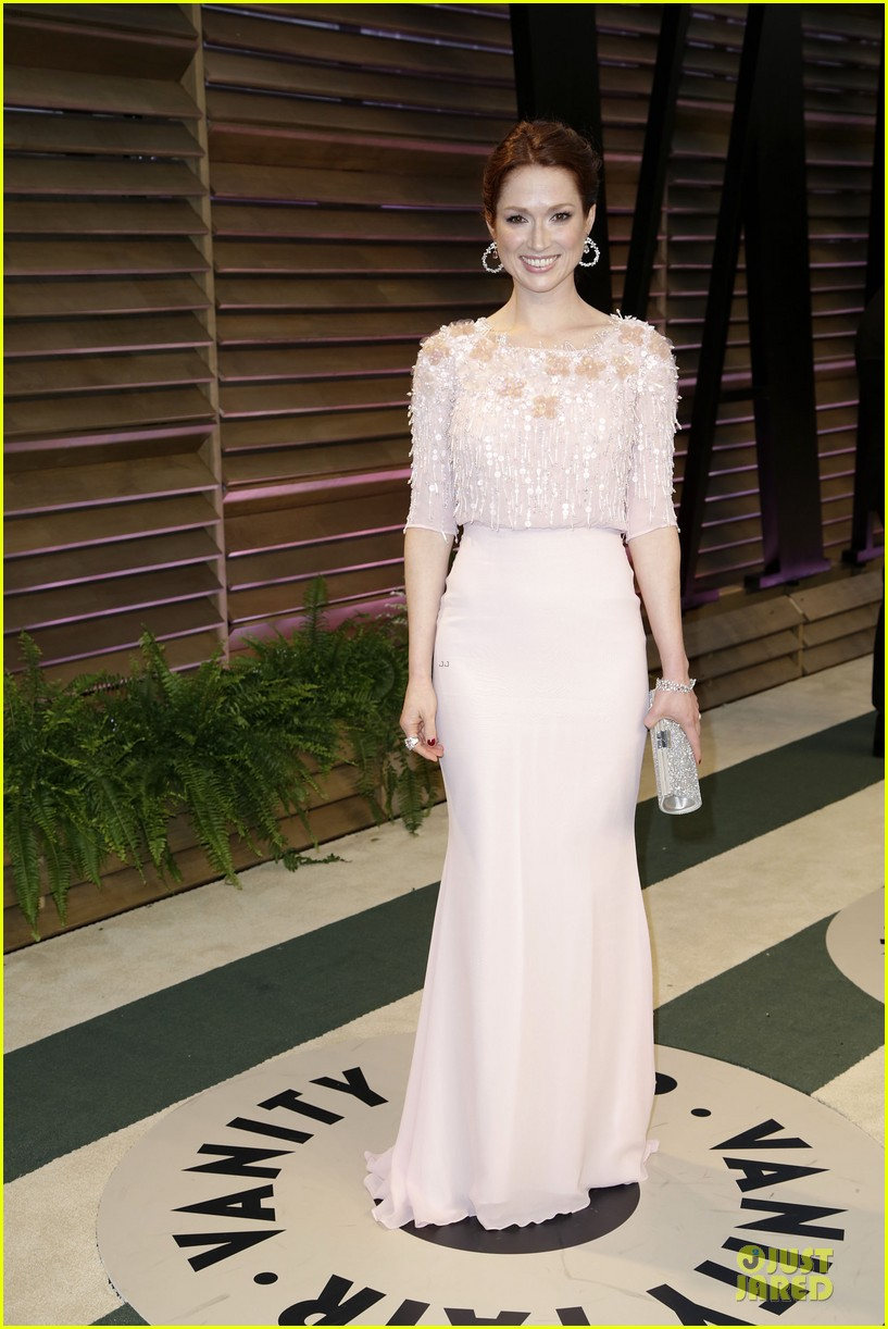 ellie kemper bj novak bring back the office at vanity fair oscars party 2014 083064322