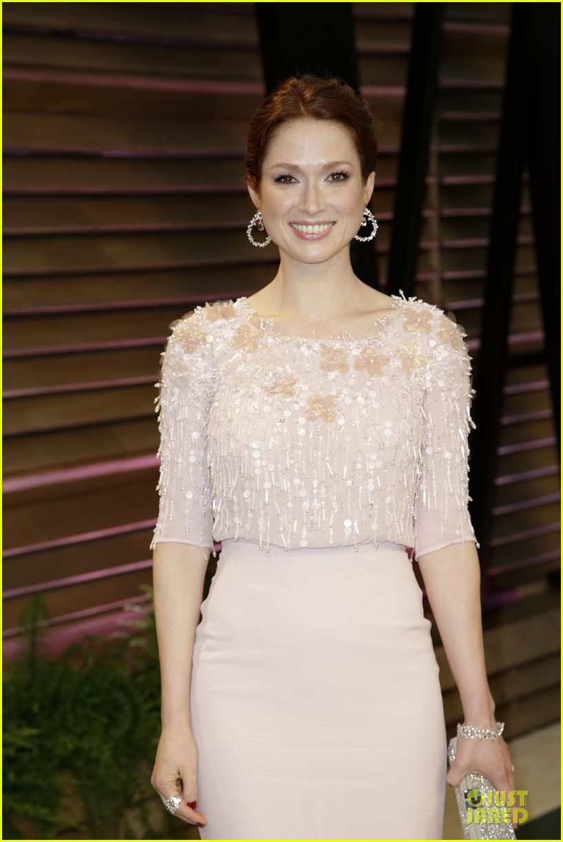 ellie kemper bj novak bring back the office at vanity fair oscars party 2014 09