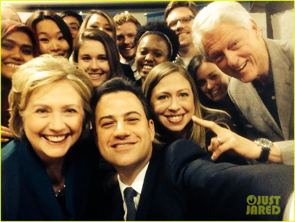 jimmy kimmel clinton selfie
