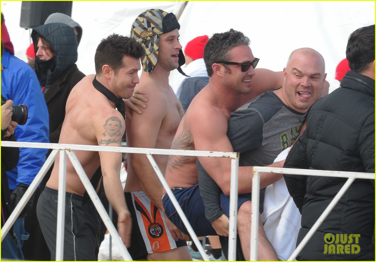 taylor kinney goes shirtless for polar plunge in chicago 02
