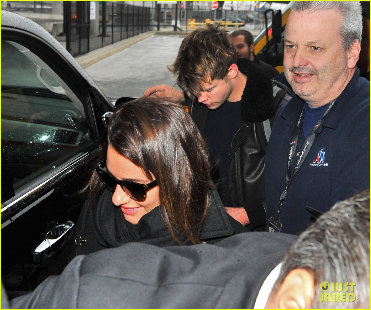 lea michele chord overstreet arrive in new york 193070757