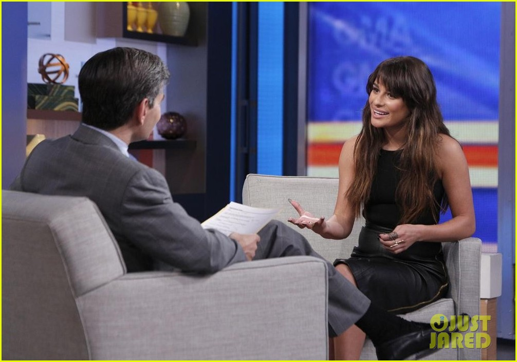 lea michele brings louder to good morning america 03
