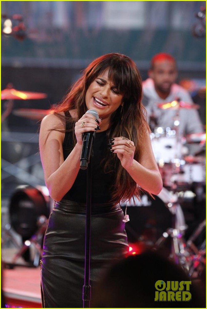 lea michele brings louder to good morning america 08