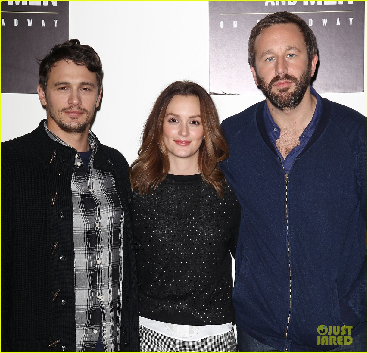 leighton meester james franco of mice men broadway preview 21