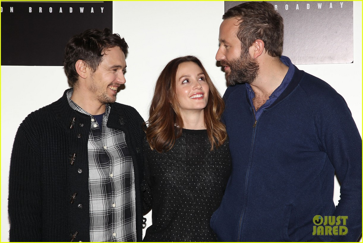 leighton meester james franco of mice men broadway preview 26