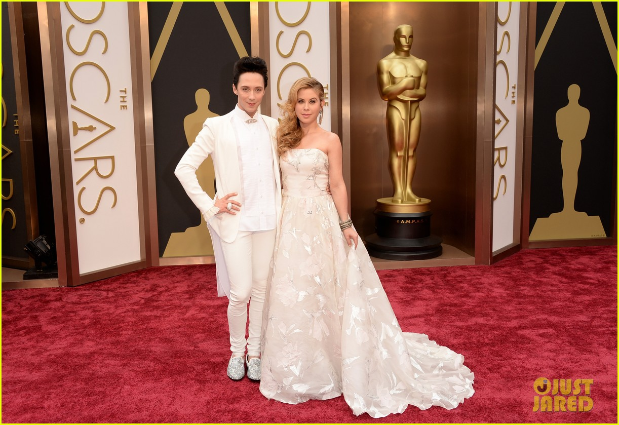 tara lipinski johnny weir skate their way to oscars 2014 01