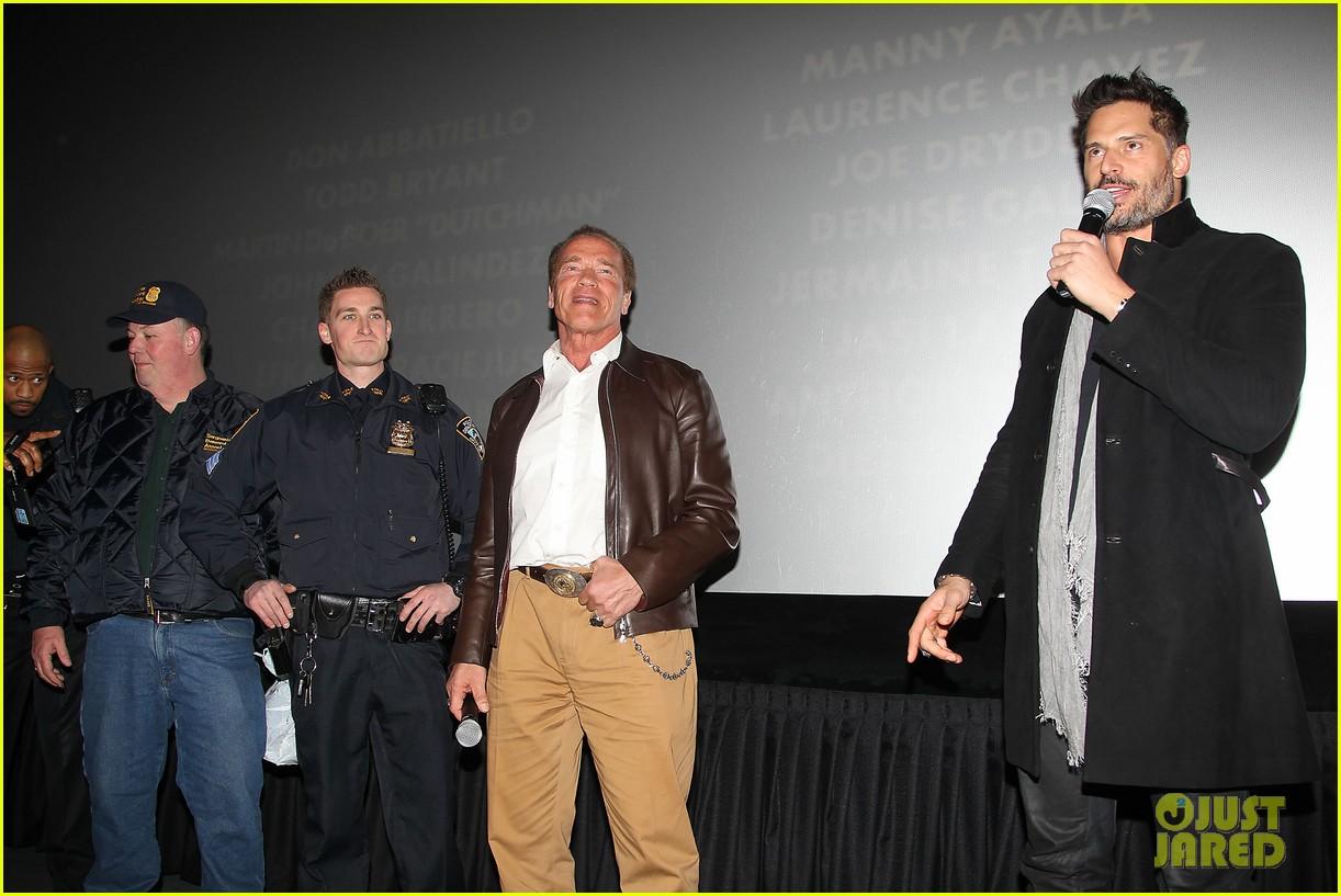 joe manganiello arnold schwarzenegger surprise nyc law enforcement 09