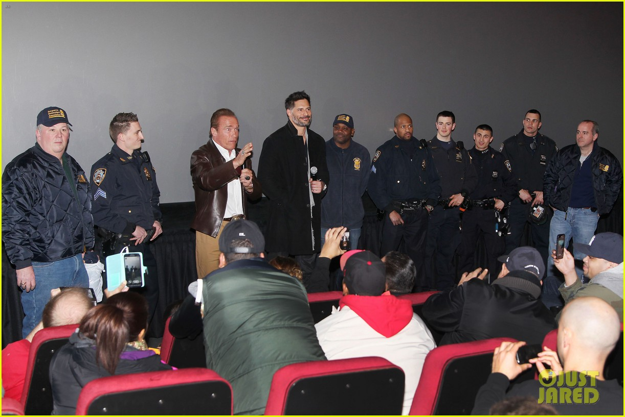 joe manganiello arnold schwarzenegger surprise nyc law enforcement 293077449