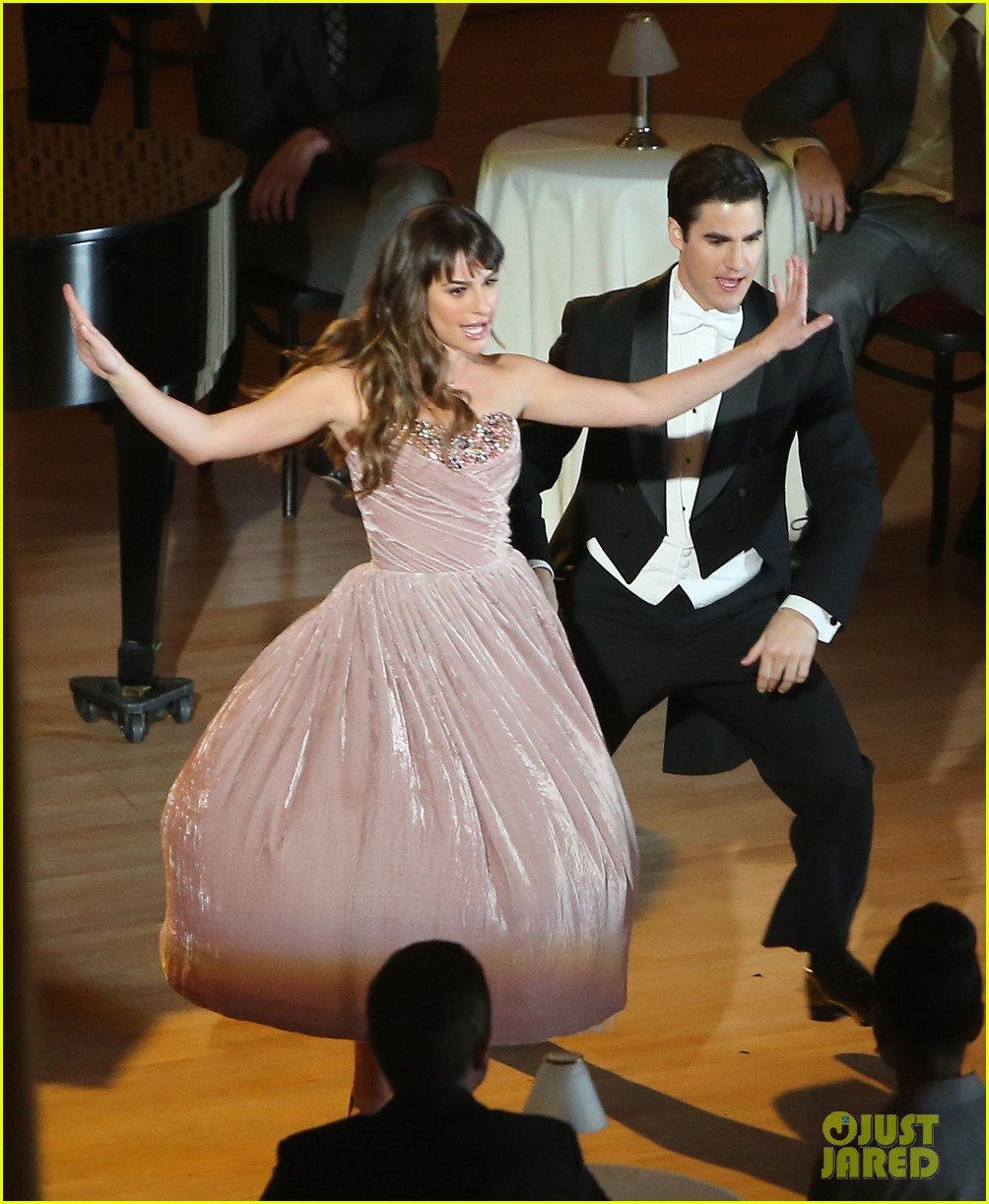 lea michele darren criss classic broadway number glee 153079884