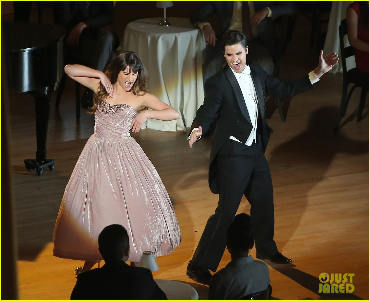 lea michele darren criss classic broadway number glee 173079886