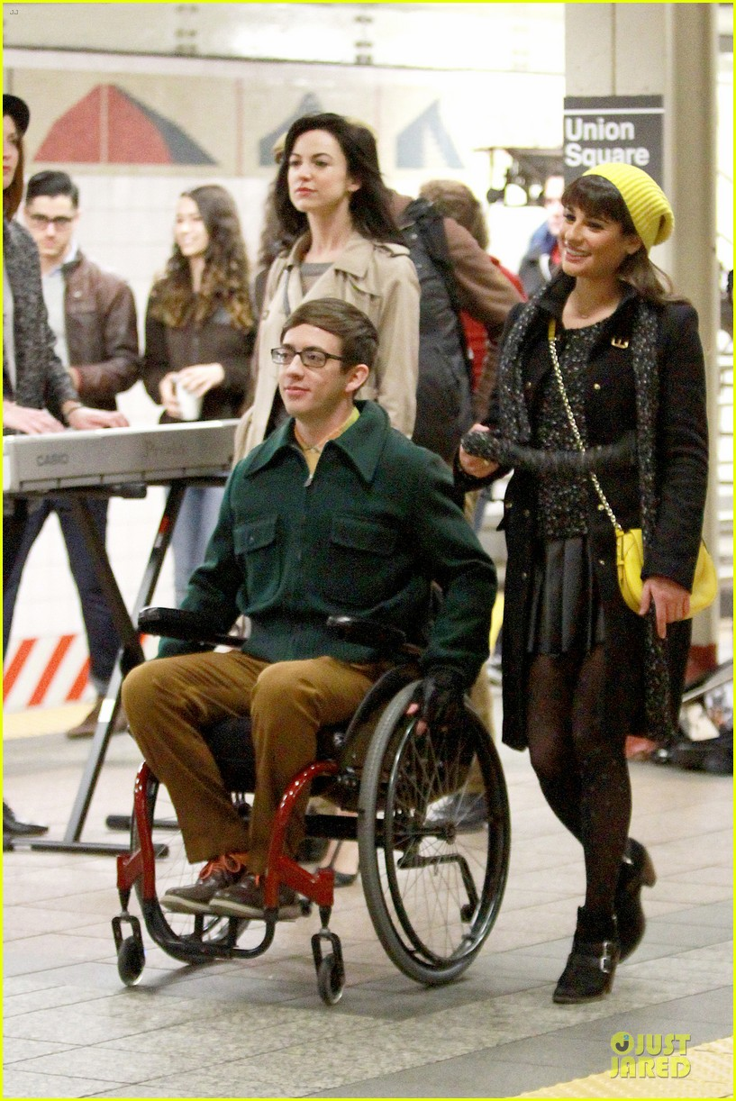 lea michele kevin mchale take glee underground in nyc 14