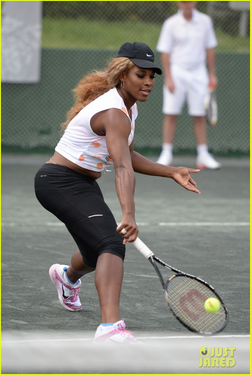 novak djokovich williams sisters play tennis for charity 273074848