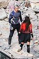 elizabeth olsen aaron taylor johnson more action packed avengers 2 pics 07