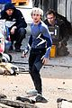 elizabeth olsen aaron taylor johnson avengers 2 set photos 22