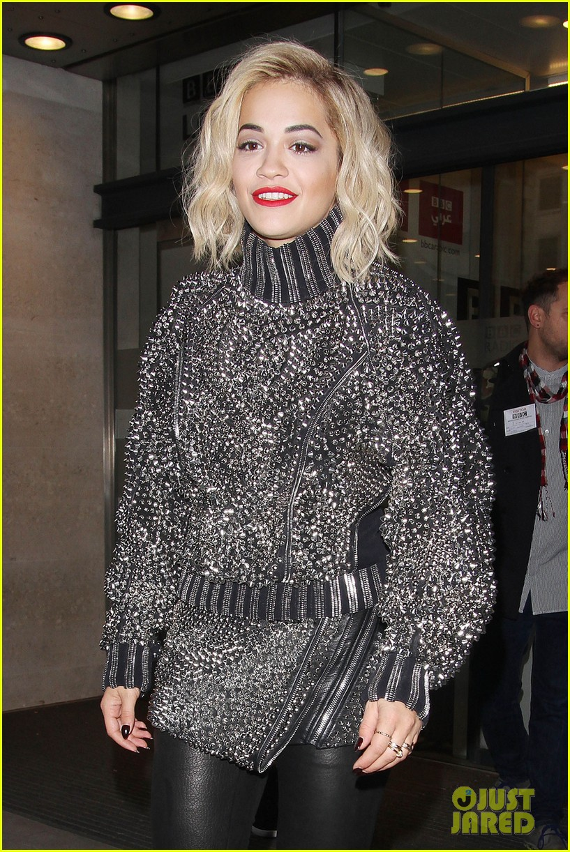 rita ora premieres i will never let you down at bbc radio in spongebob squarepants outfit 093082099