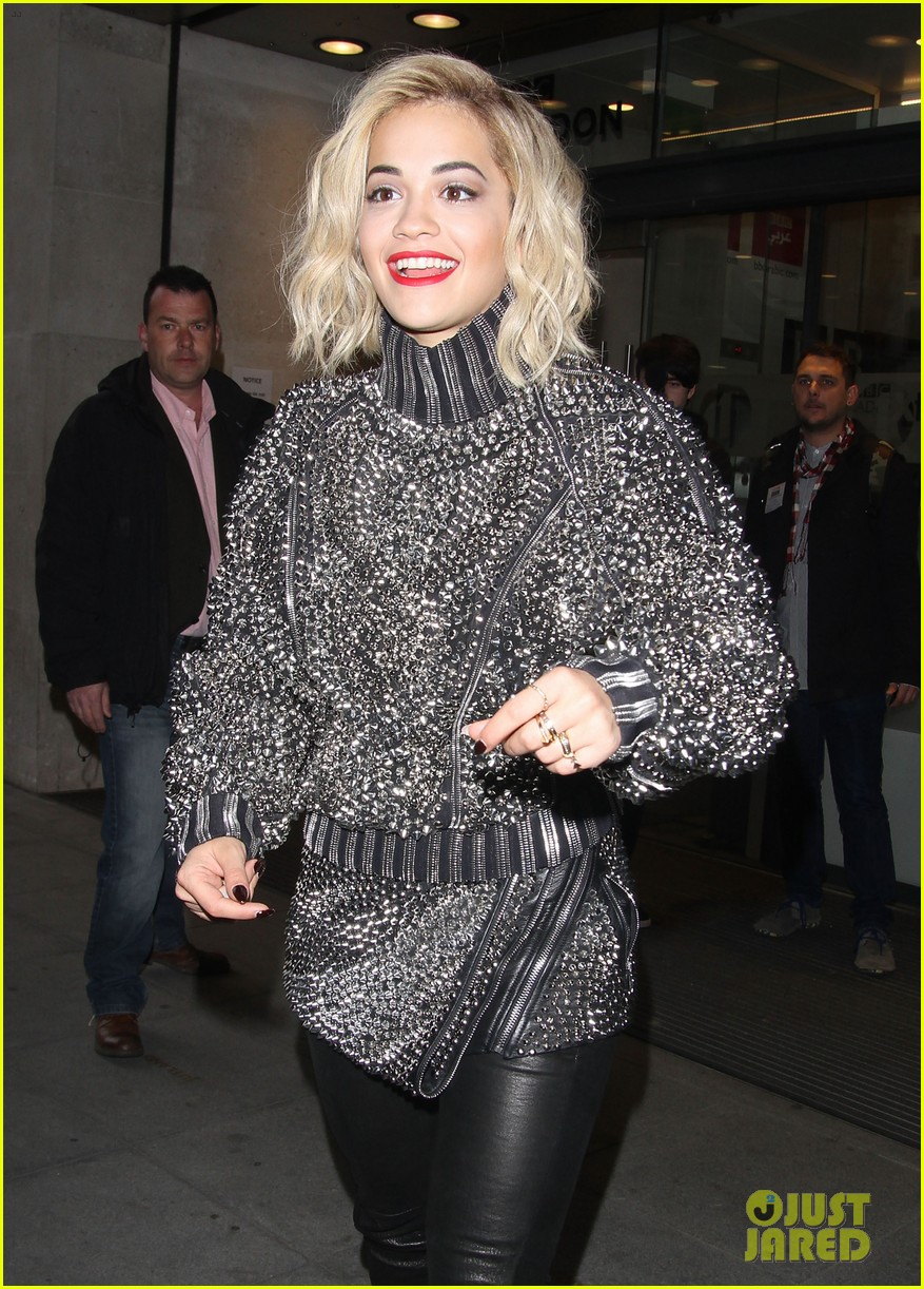 rita ora premieres i will never let you down at bbc radio in spongebob squarepants outfit 123082102