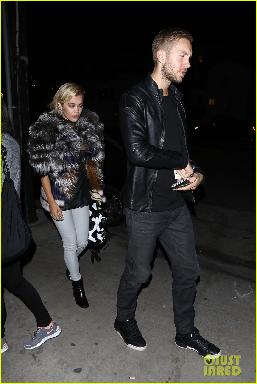 rita ora calvin harris share tender moment 12