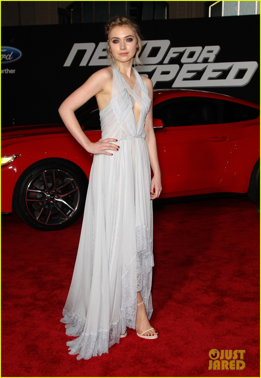 aaron paul imogen poots need for speed premiere 193067572