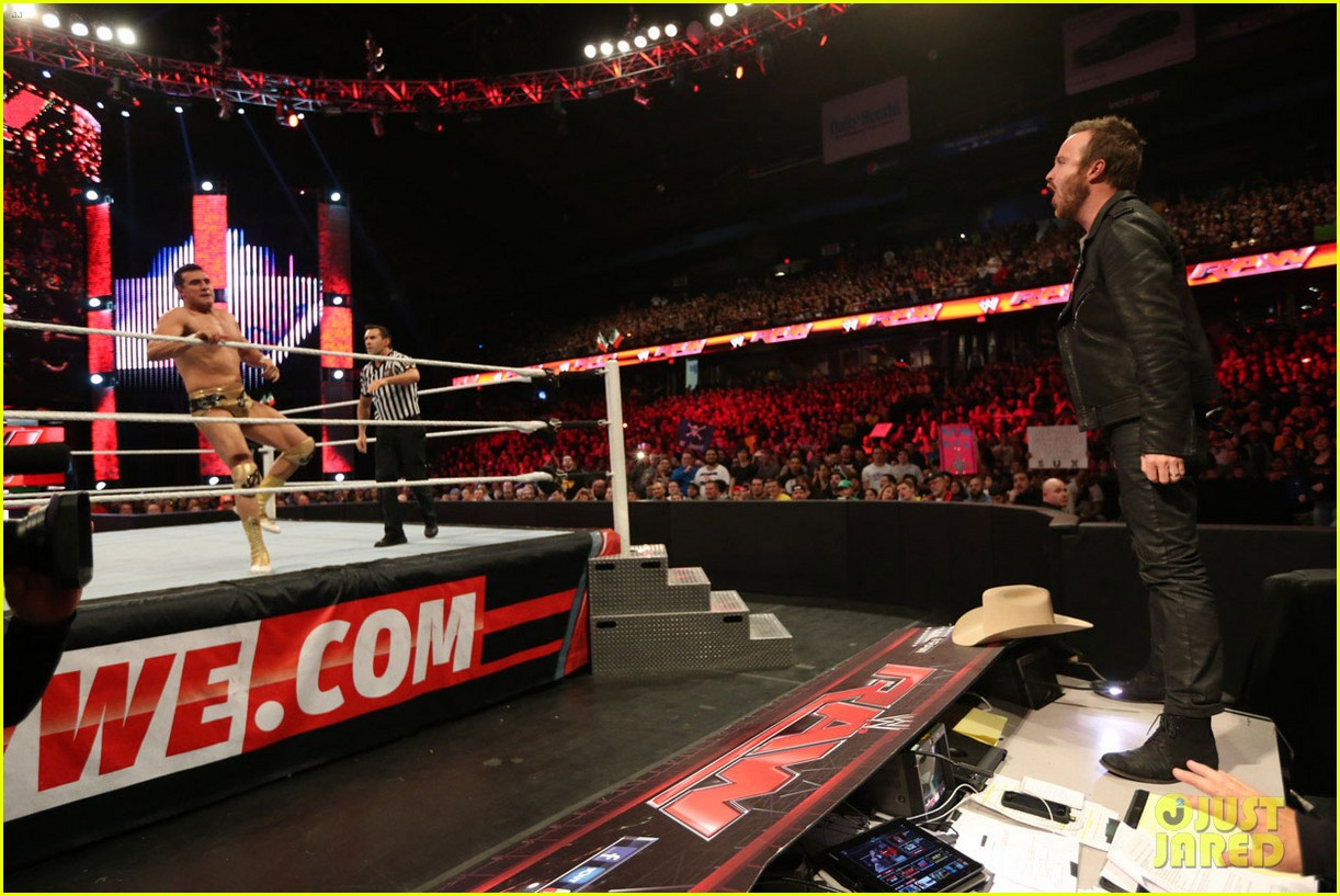 aaron paul has a need for speed on wwes monday night raw 113066737