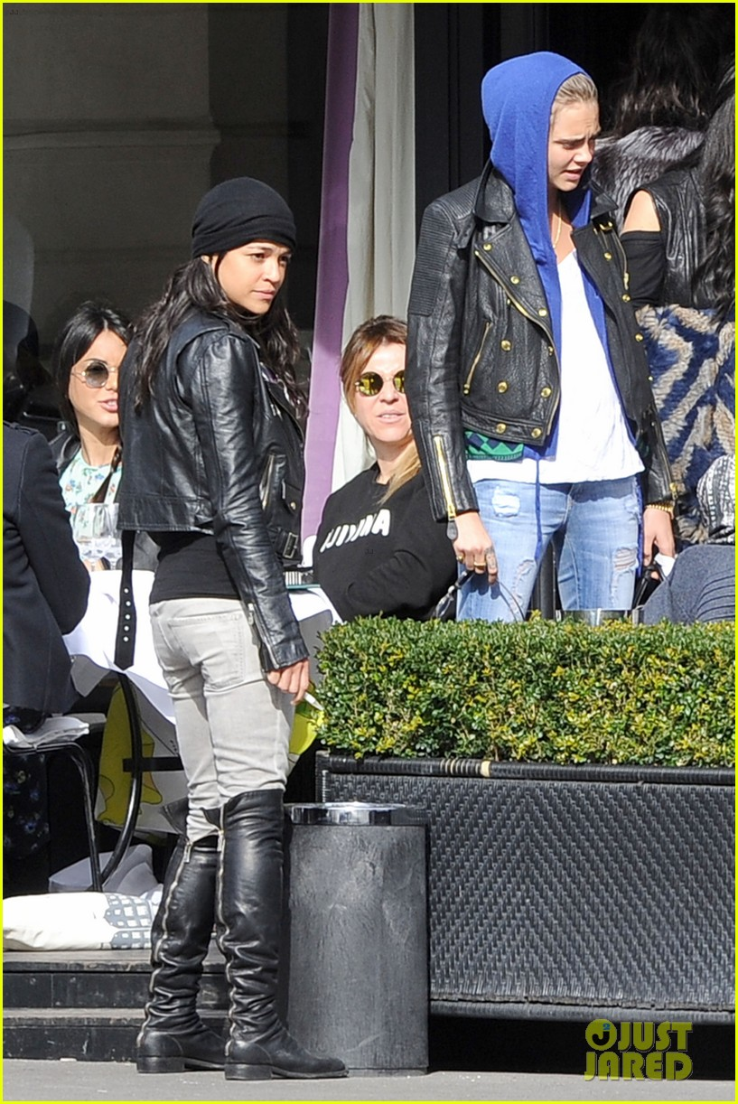 michelle rodriguez joins cara delevingne for paris fashion week fun 11