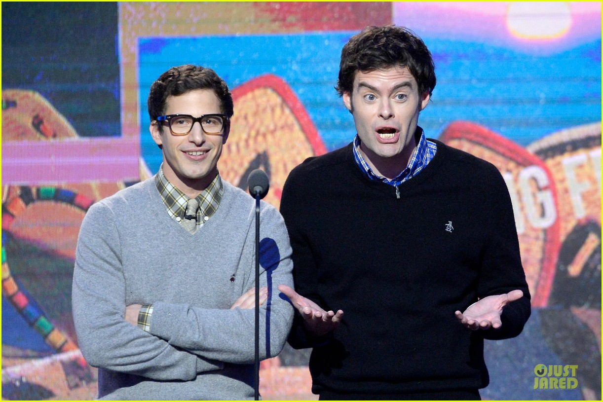andy samberg bill hader expressive presenters at independent spirit awards 2014 023063066