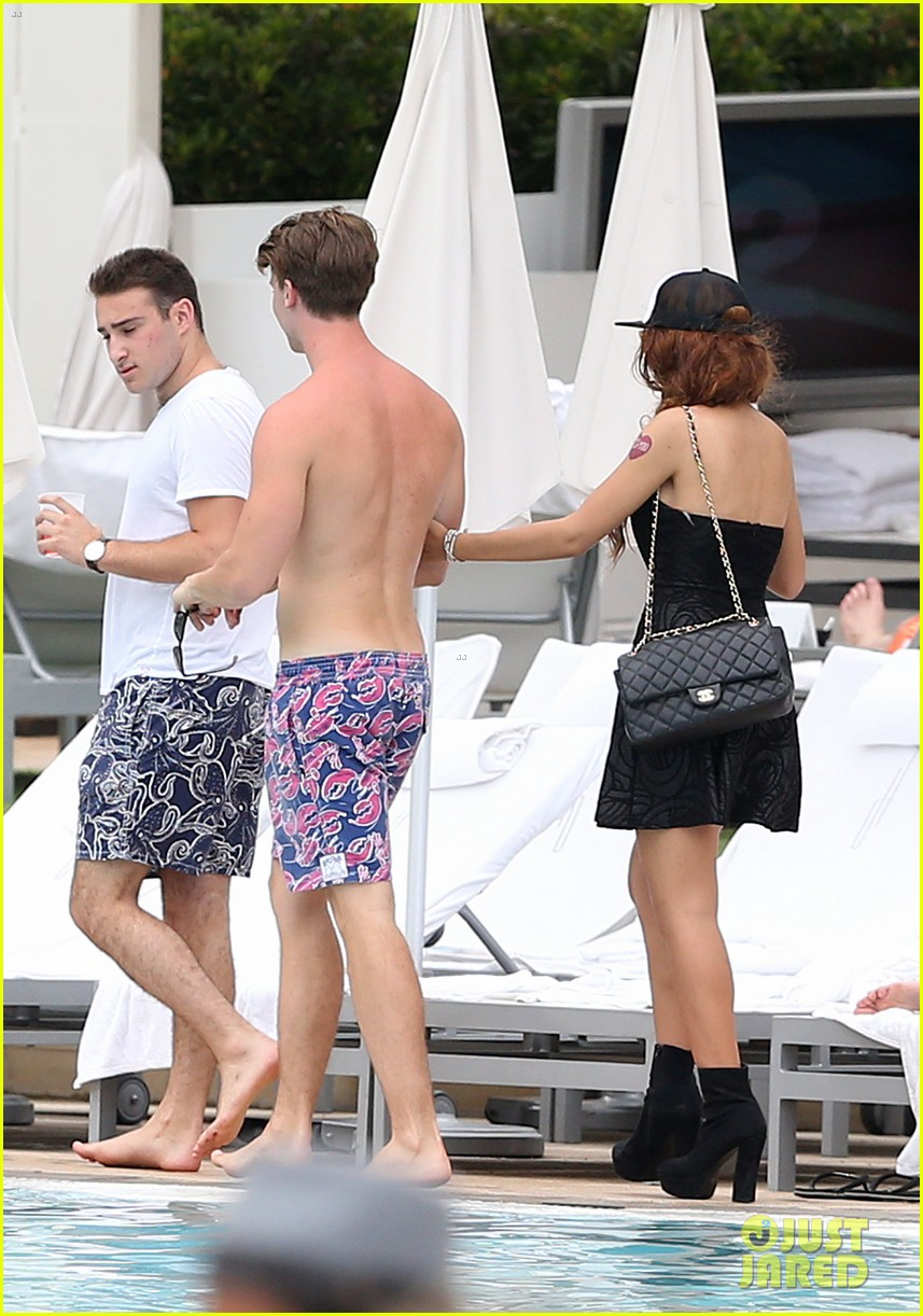 patrick schwarzenegger six pack abs miami spring break 11