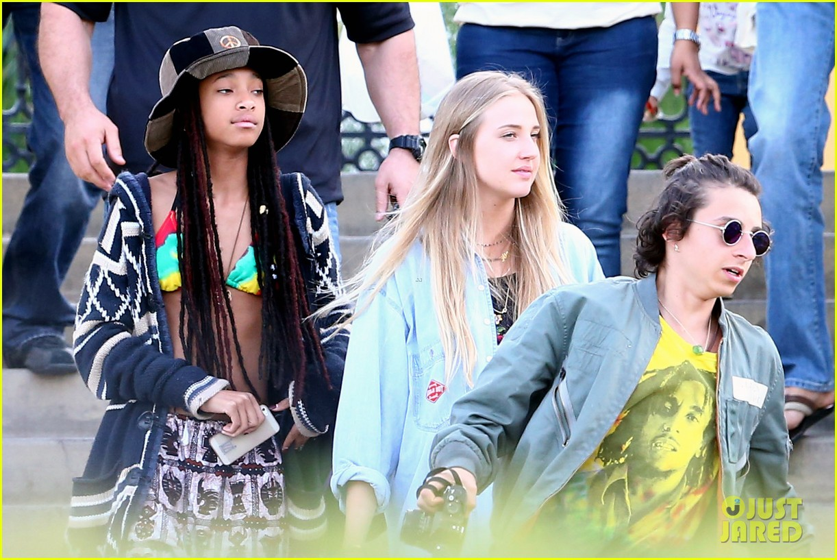 willow smith wears bikini top for sushi dinner 223069284