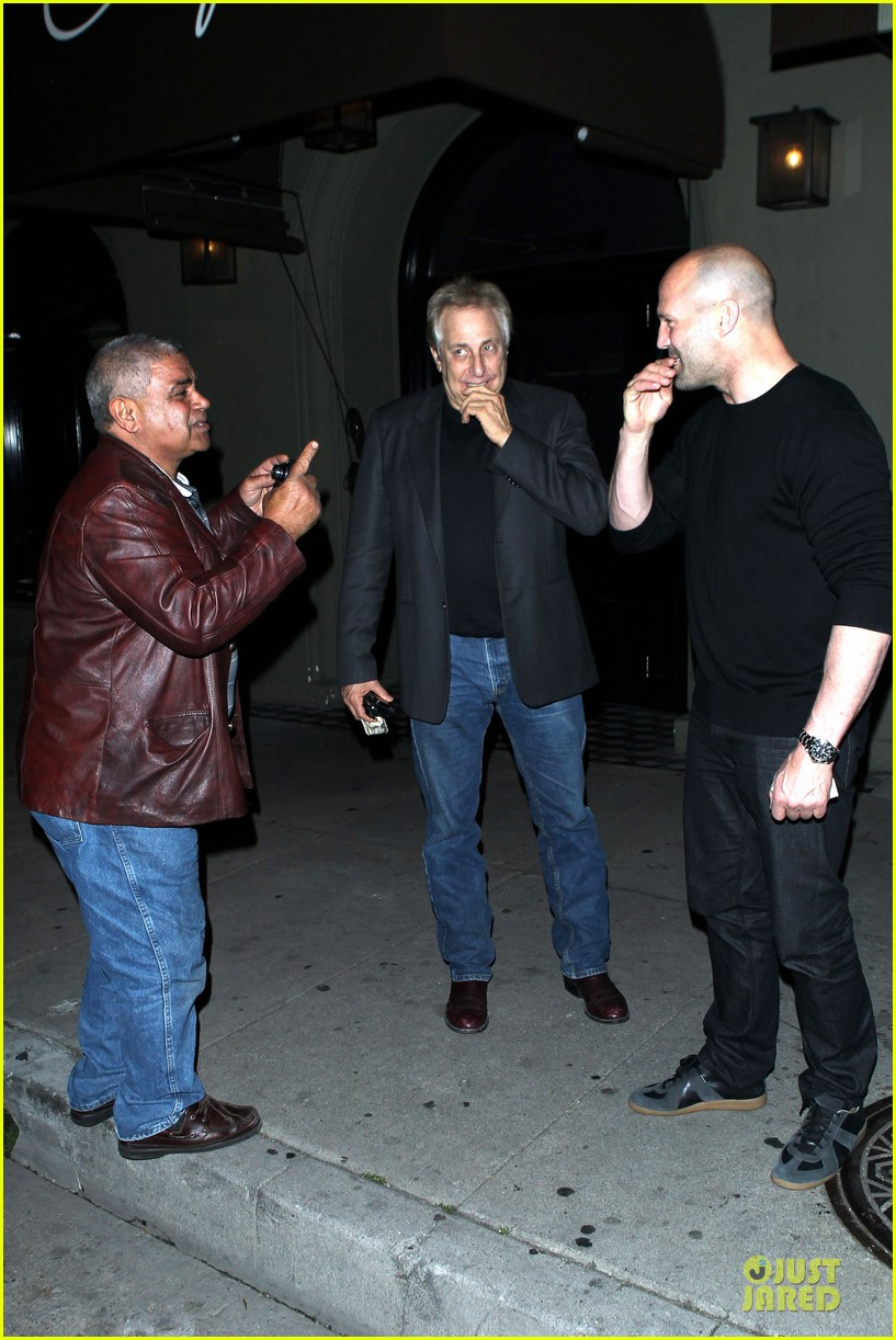 jason statham sylvester stallone dinner at craigs 093070114