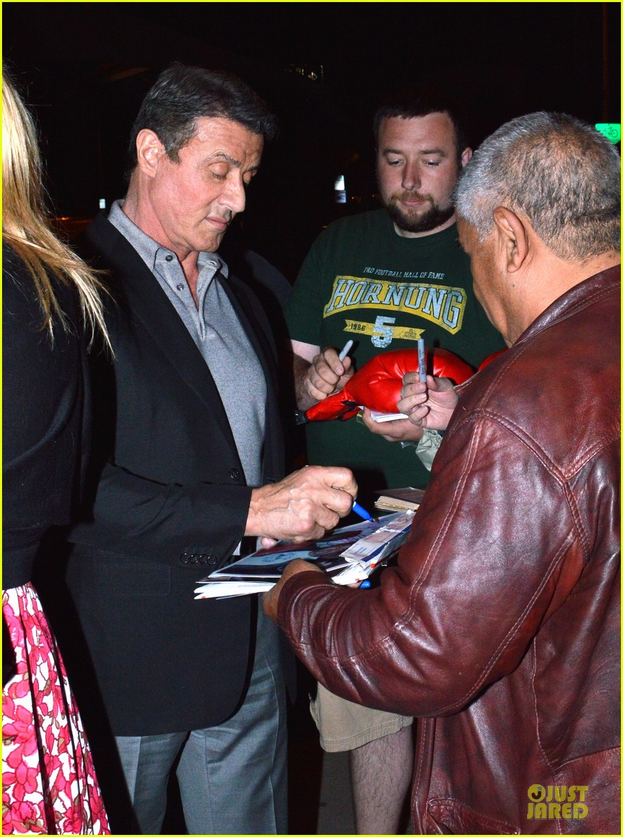 jason statham sylvester stallone dinner at craigs 21