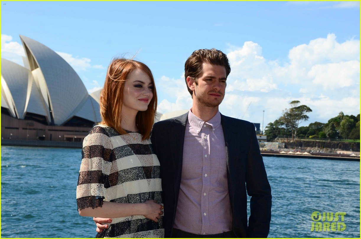 emma stone andrew garfield spider man sydney photo call 06