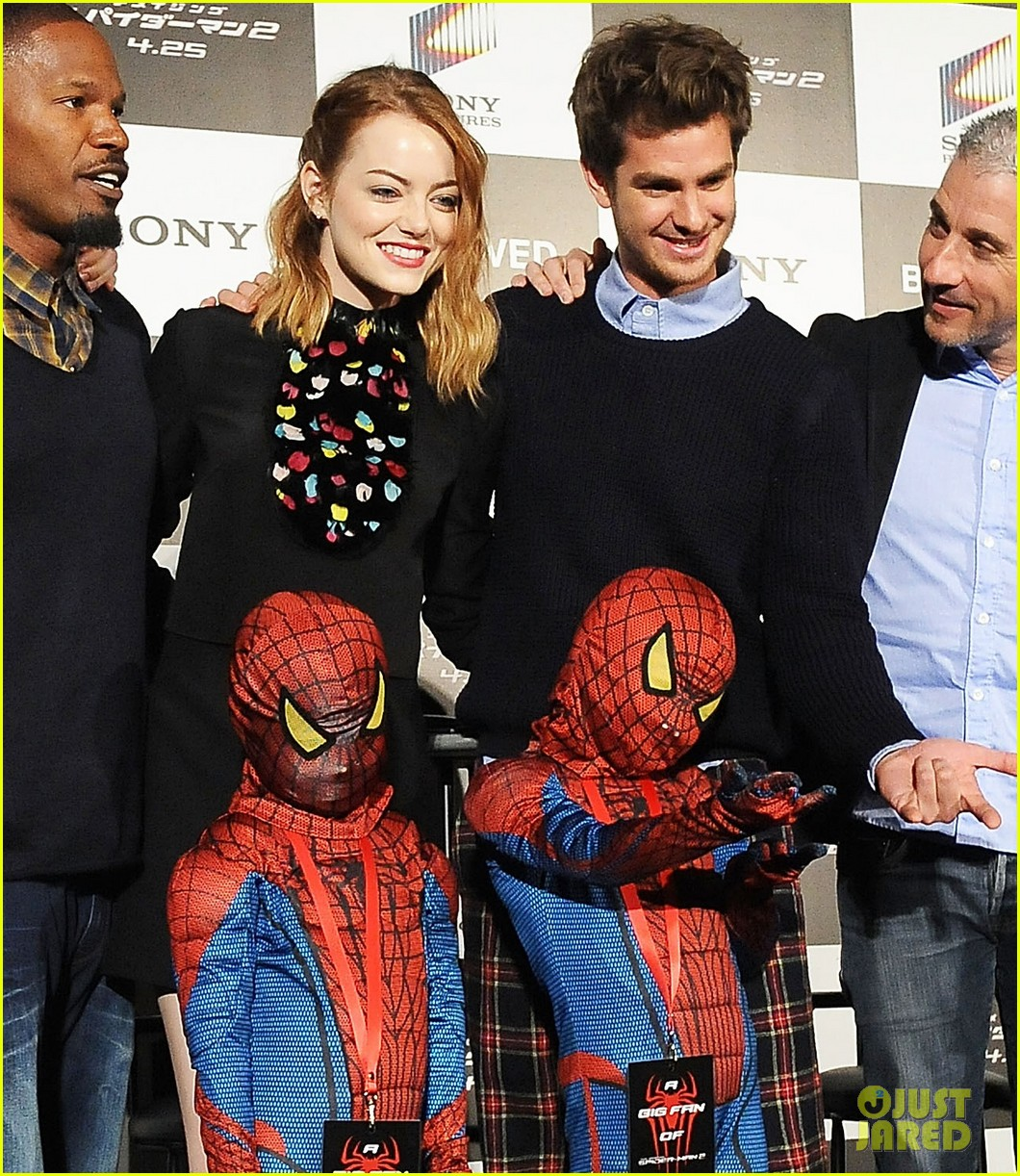 emma stone andrew garfield hit tokyo for amazing spider man 2 press conference 173082090