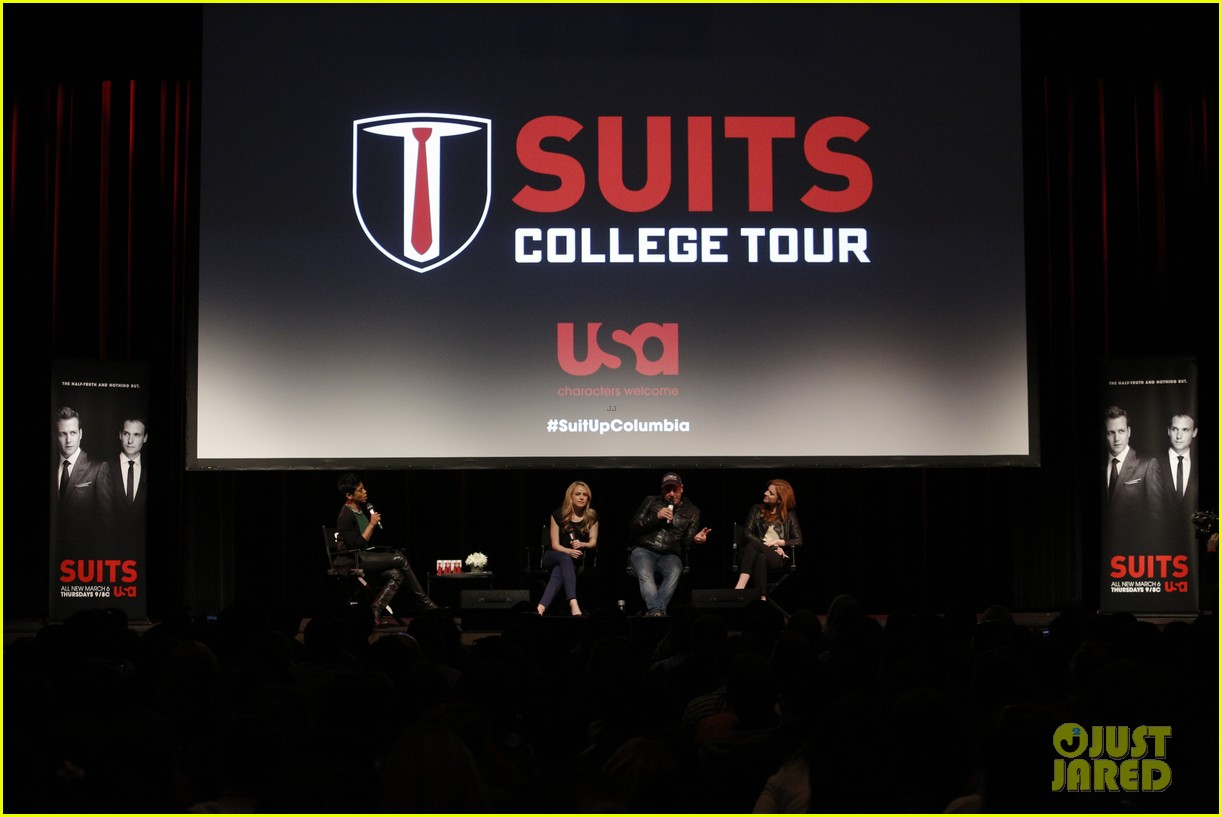 suits interview rick hoffman sarah rafferty amanda schull 01