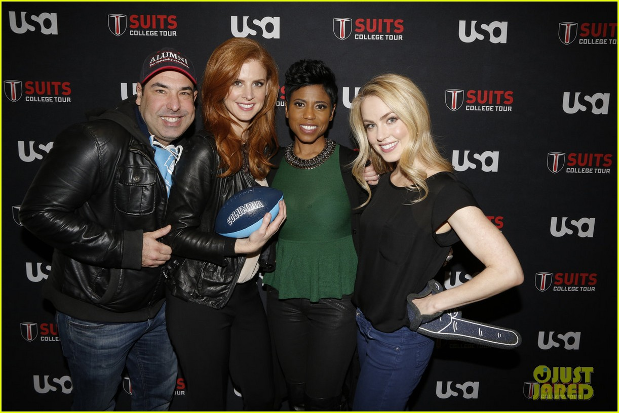 suits interview rick hoffman sarah rafferty amanda schull 04