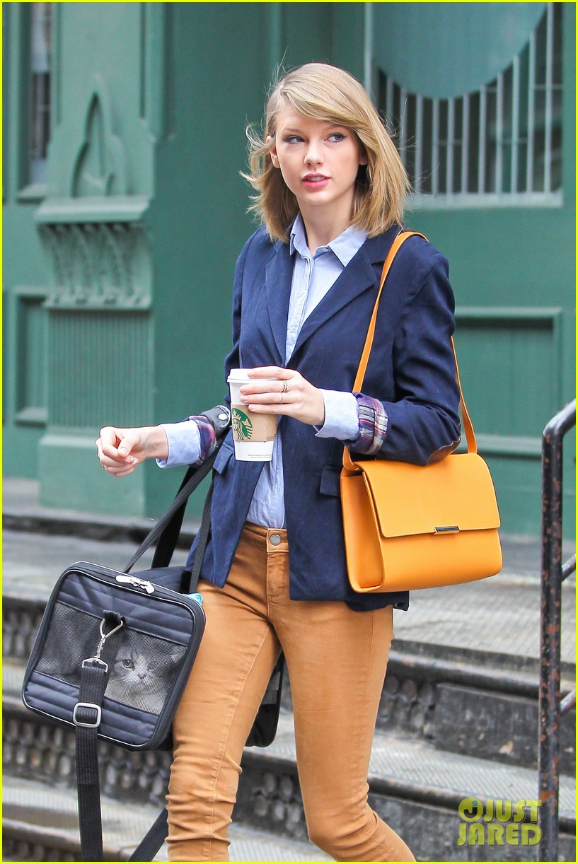 taylor swift brings her cat meredith around nyc in travel carrier 04