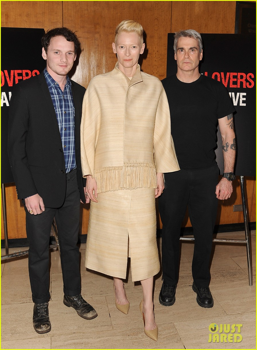 tilda swinton anton yelchin only lovers left alive screening 05