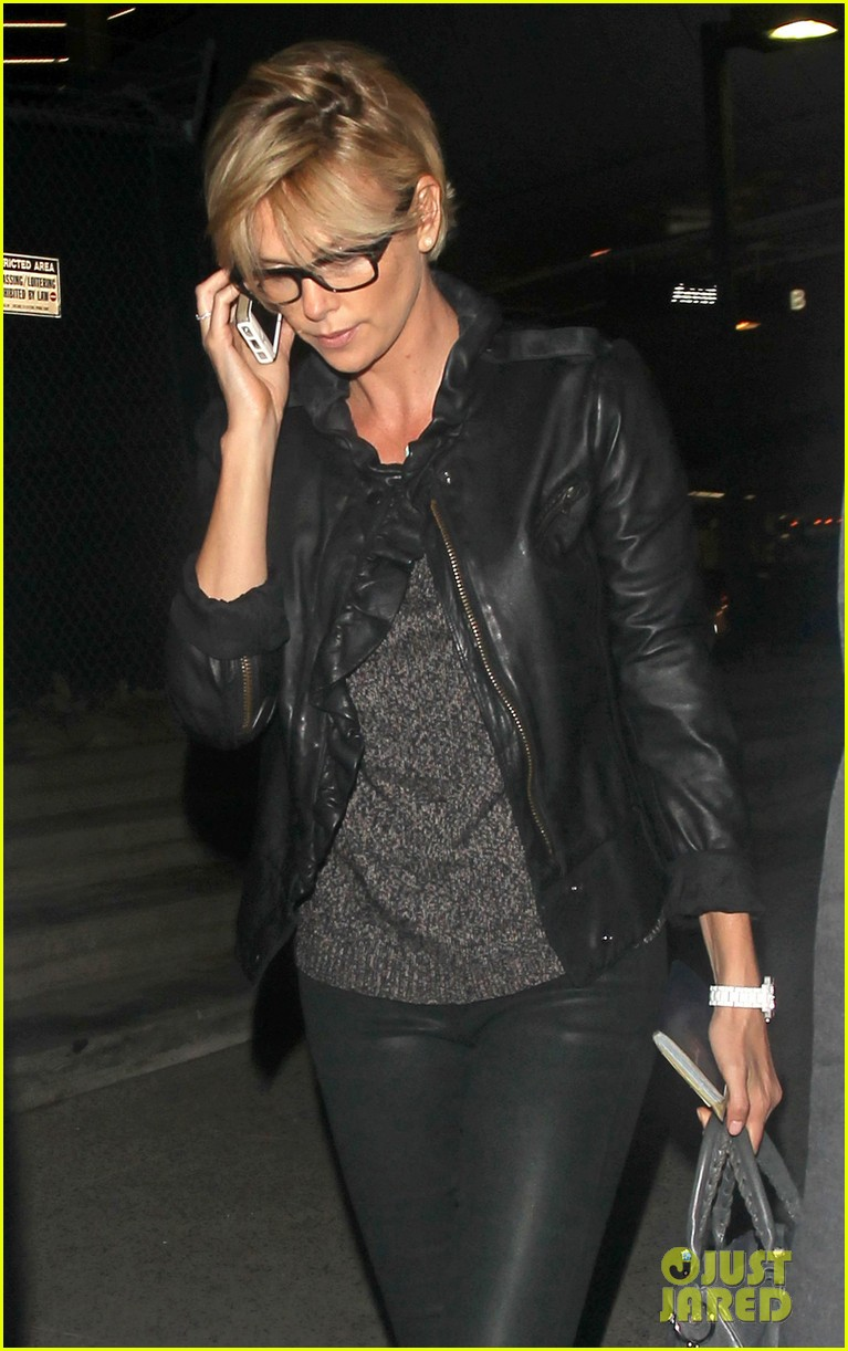 charlize theron keeps working out a priority before heading out of town 153079615