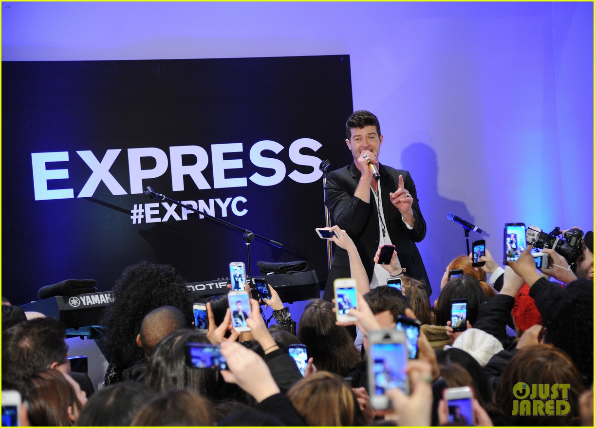 robin thicke hits the stage at express times square grand opening 10