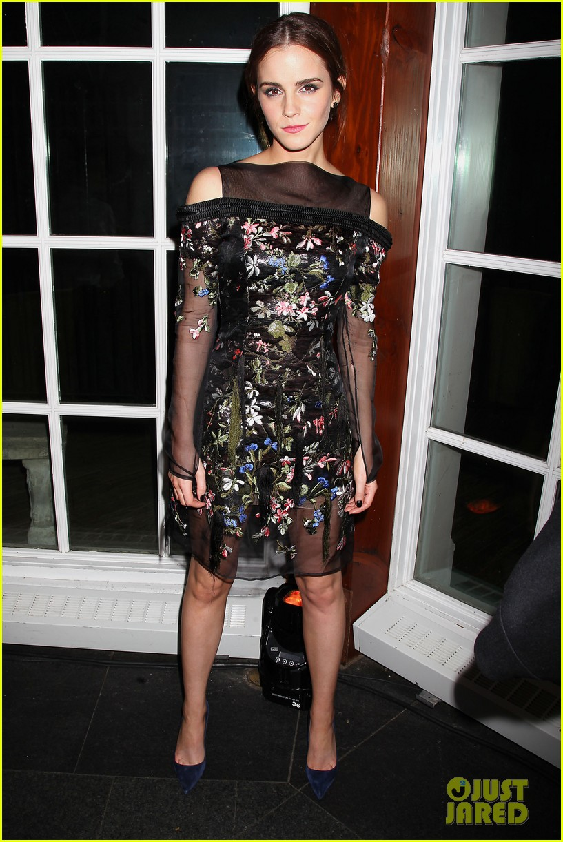 emma watson floral fierce noah nyc after party 01