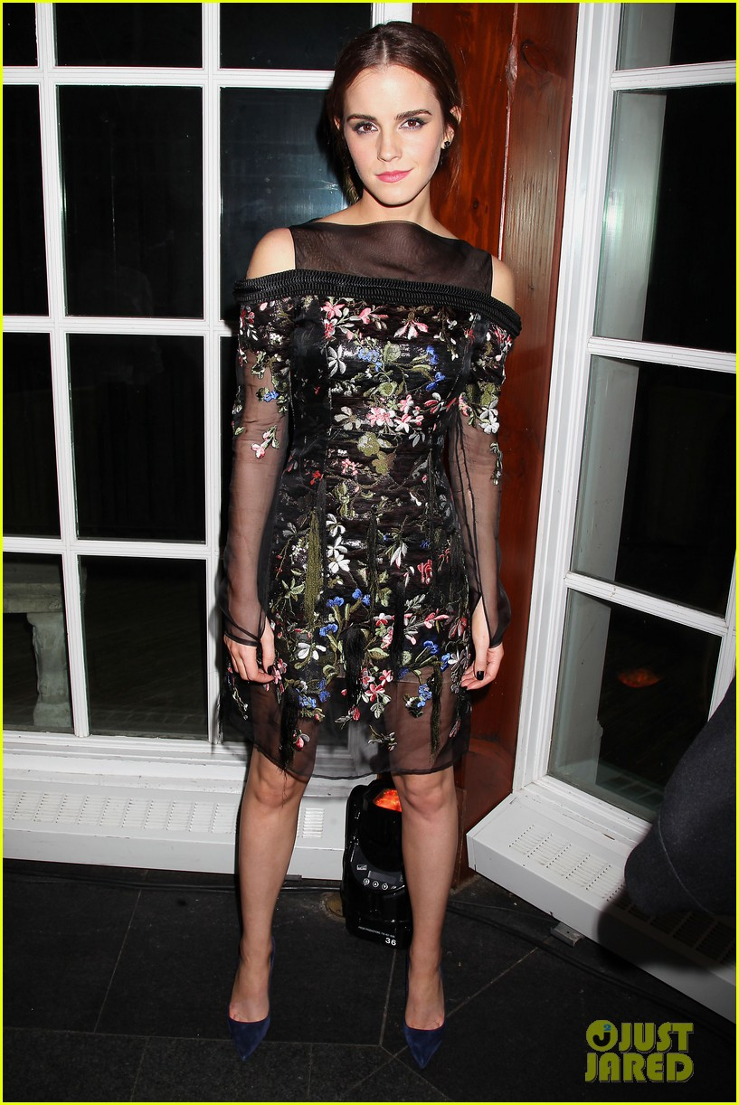 emma watson floral fierce noah nyc after party 133079353