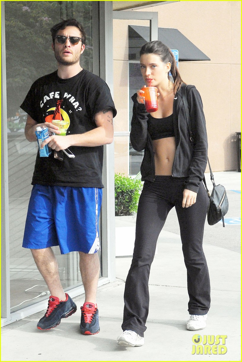 ed westwick hits the gym with mystery gal with hot body 01