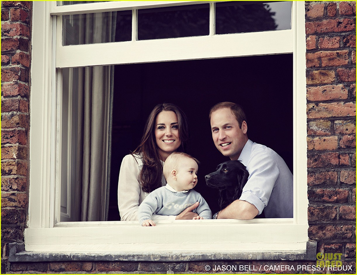 prince william kate middleton smile with george 05