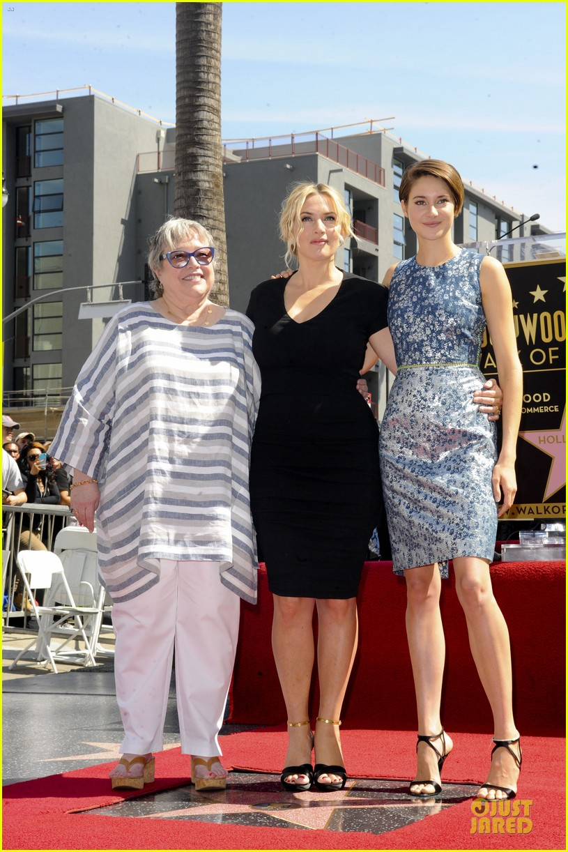 kate winslet shailene woodley hollywood walk of fame 153073499