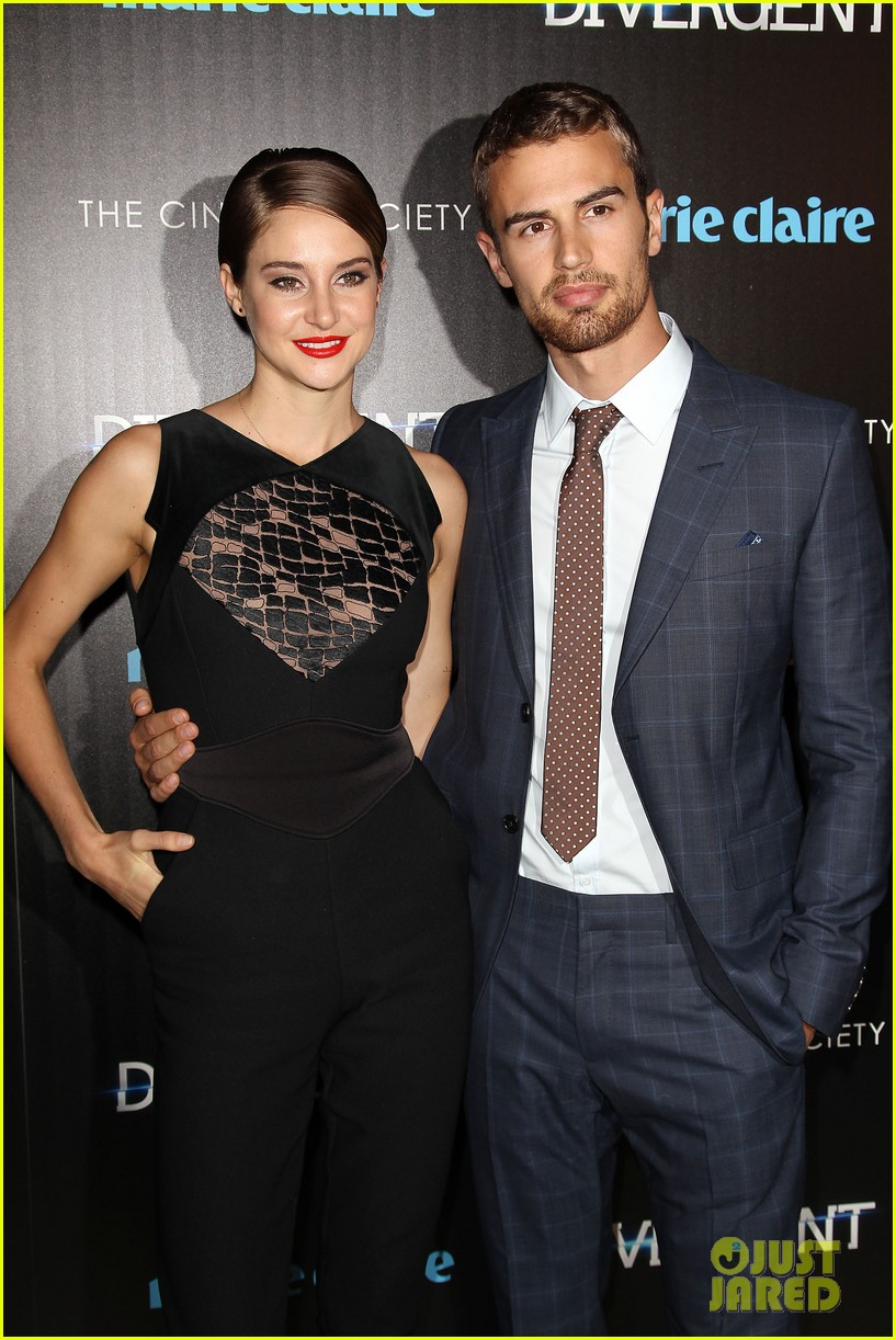 shailene woodley theo james divergent nyc screening 25