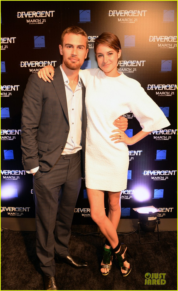 shailene woodley theo james are engrossed with divergent 03