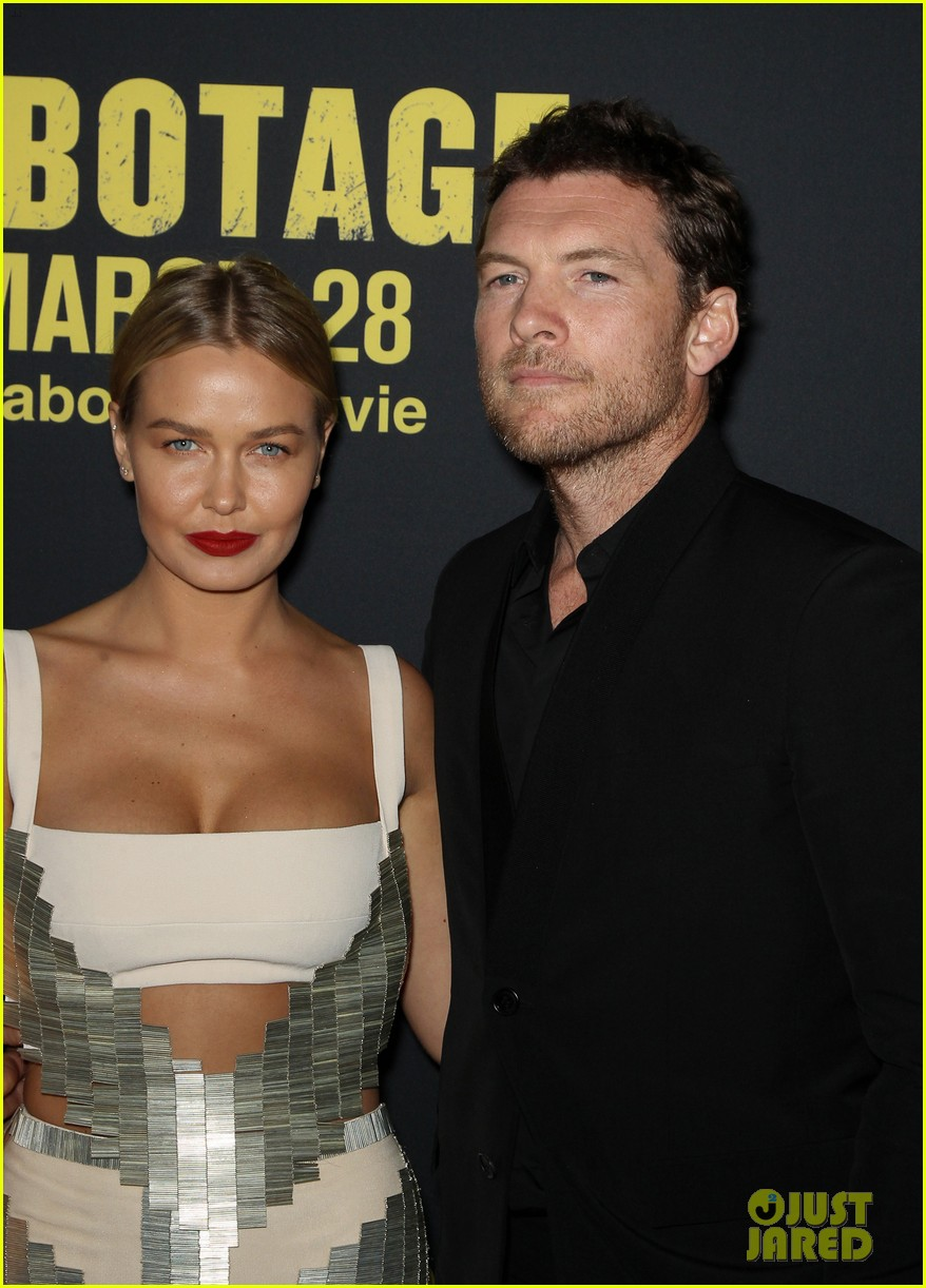 sam worthington lara bingle sabotage premiere 11