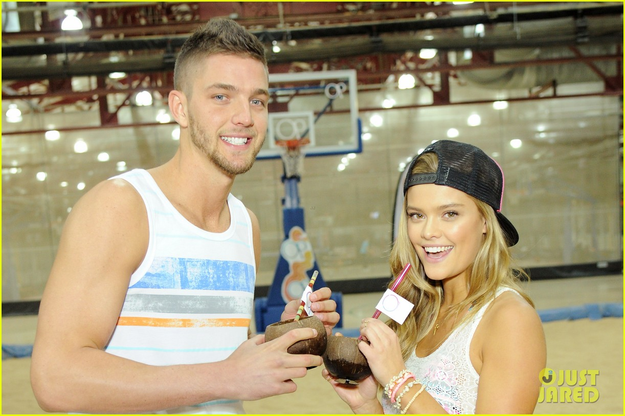 nina agdal shirtless hottie chandler parsons play basketball for ops spring kickoff 04