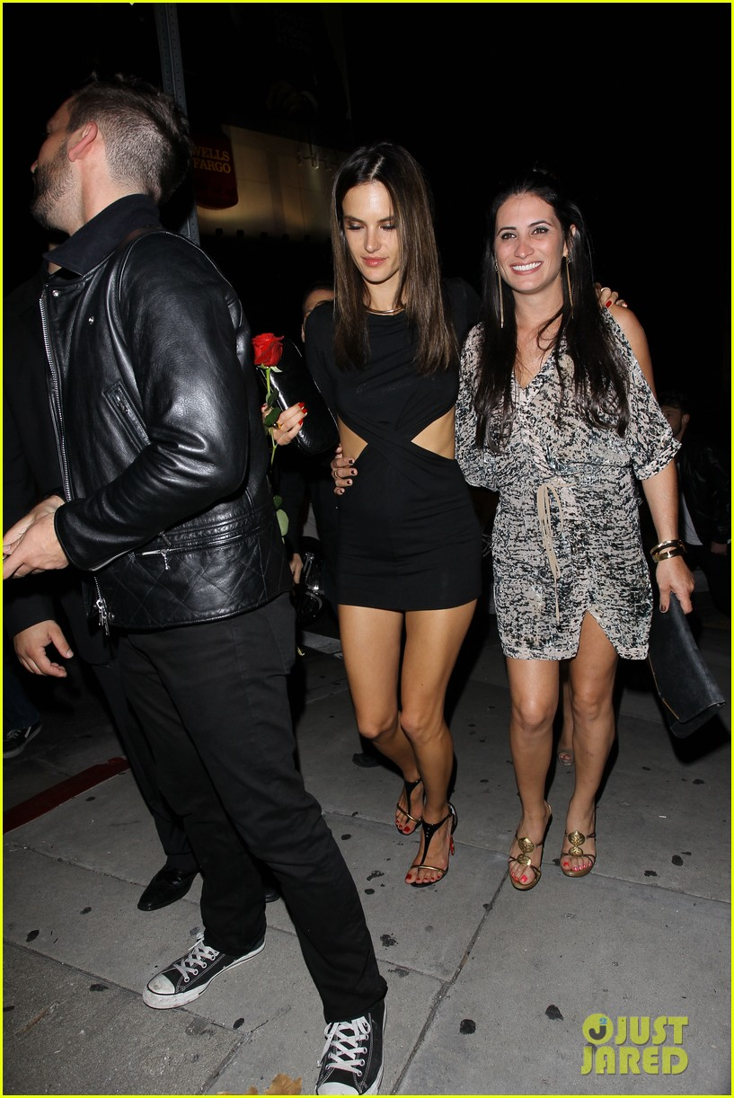 alessandra ambrosio sexy cut out dress 33rd birthday 193088967